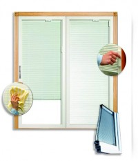 Custom Blinds Between Glass Window