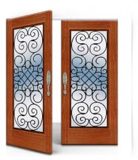 Wrought Iron Door IR A-1003