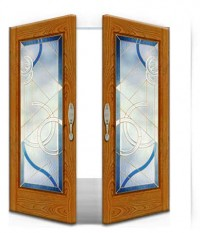 Stained Glass Door SG1014