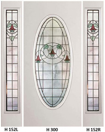 Stained Glass Gardenview Heritage Design H-300