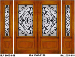 Wrought Iron Door Design IRA-1005-2248-848