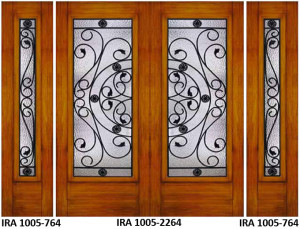Wrought Iron Door Design IRA-1005-2264-764