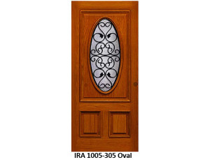 Wrought Iron Door IRA-1005-305 Oval Design