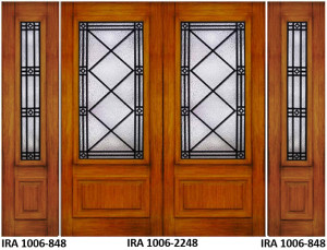 Wrought Iron Door Design IRA-1006-2248-848