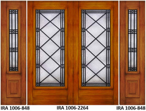 Wrought Iron Door Design IRA-1006-2264-848
