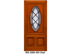 Wrought Iron Door IRA-1006-305 Oval Design
