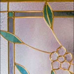 Stained Glass Beveled Petals Design