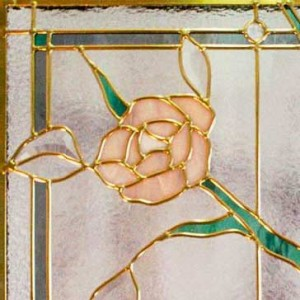 Stained Glass Climbing Rose Design