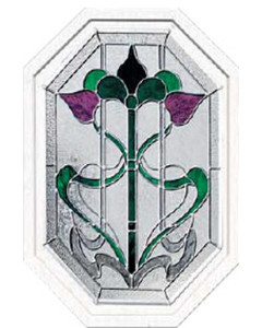 Stained Glass Accent Bourdeaux BO ELOCT 2028 Design
