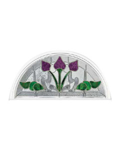 Stained Glass Accent Bourdeaux bo-hr-2814 Design
