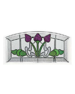 Stained Glass Accent Bourdeaux bo-seg-2614 Design