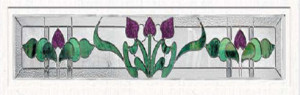 Stained Glass Accent Bourdeaux bo-tr-6412 Design