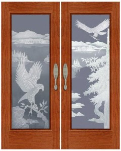 Carved and Sandblasted Door - SBWLA