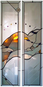 Custom Double French Door Stained Glass