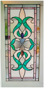 Custom Stained Glass Victorian Design French Door